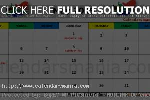 May 2019 Calendar South Africa